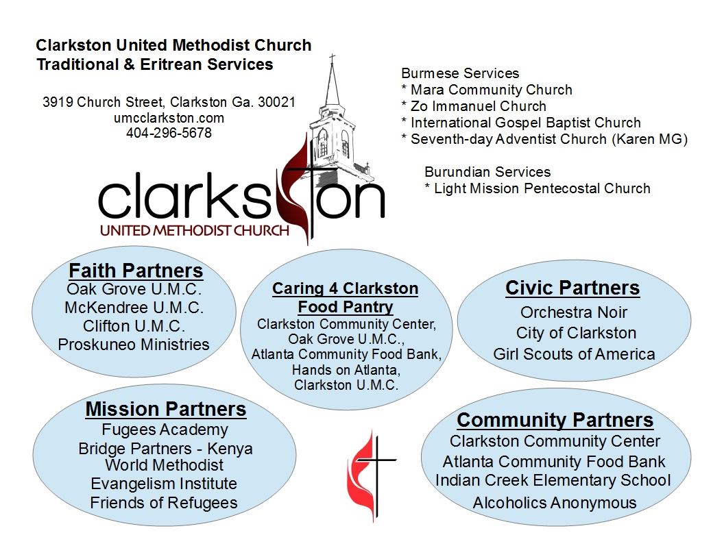 flyers for partners and worship clarkston umc